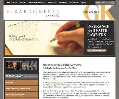 Bad Faith Insurance Attorneys