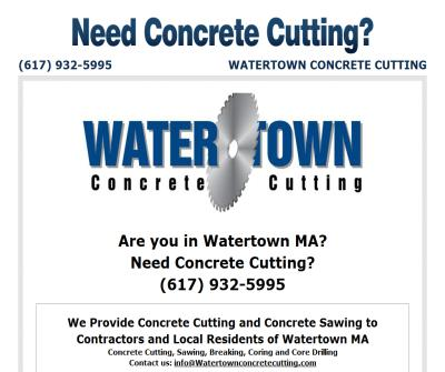Watertown Concrete Cutting