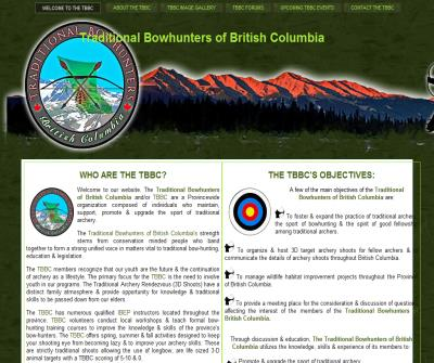 TBBC | The Traditional Bowhunter's of British Columbia | Bowhunting BC | Trad Archery | Memberships