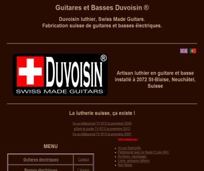Duvoisin Guitars. Manufacturer of electric guitars and basses Swiss Made