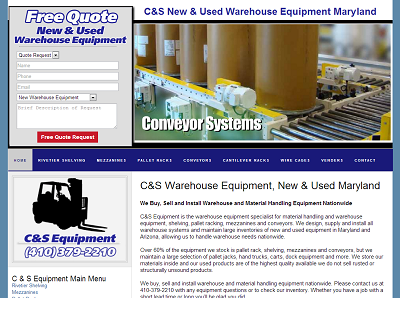C&S New & Used Warehouse Equipment Maryland