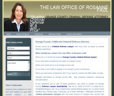 The Law Office Of Rosanne Faul - Orange County Criminal Defense Attorney