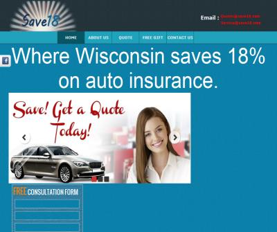 Save 18% on car insurance