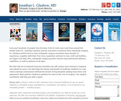 Jonathan L. Glashow, MD: Orthopedic Surgeon