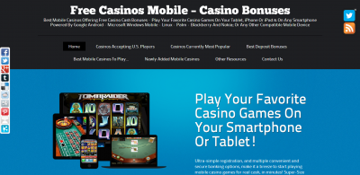 Free Casinos Mobile - Mobile Casino Bonuses