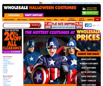 Whole Sale Halloween Costumes