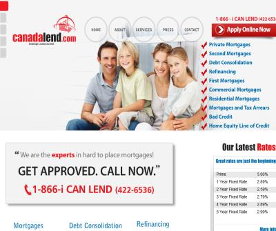 Mortgage Loans Bad Credit, Debt Consolidation Canada