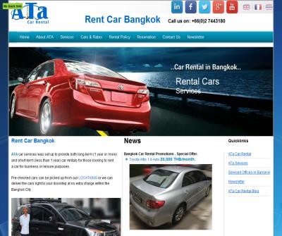 Rent car in Bangkok with Ata Car Rental