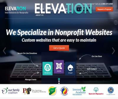 Web Design for Non Profits - Elevation Web