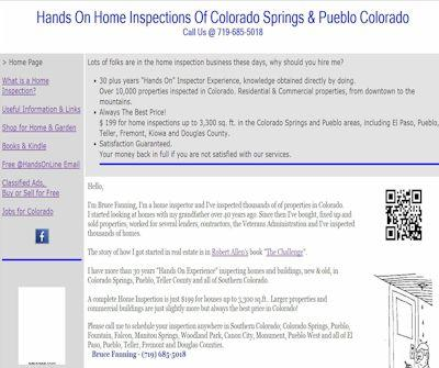 Hands On Home Inspections Of Colorado Springs & Pueblo Colorado