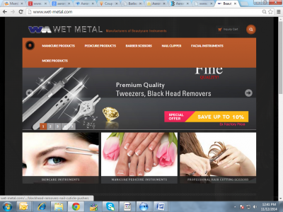 Wet Metal Professional Nail and Salon Supplies Stainless Steel Beauty Care Tools Pakistan