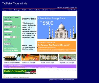 Taj Mahal tours in india