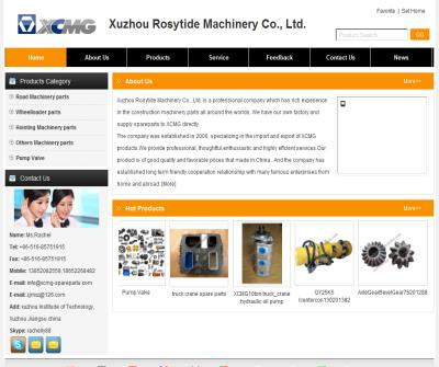Xuzhou Rosytide Machinery co., ltd. Road Machinery Parts Cranes parts