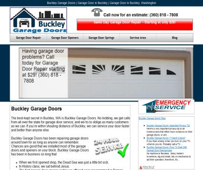 Garage door services in Buckley Washigton