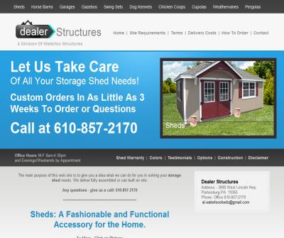 Storage Shed Plans | Dealer Structures