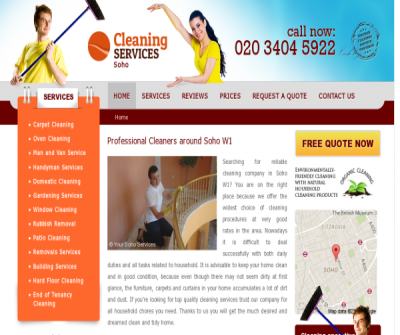 Cleaning Services Soho