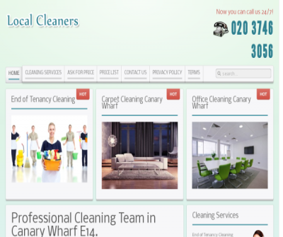 Cleaning Company Canary Wharf