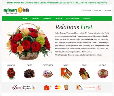 My Flowers -Send Flowers to India,Cakes to India
