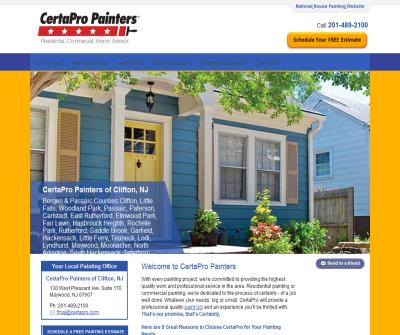 CertaPro Painters of Clifton provides residential and commercial painting services
