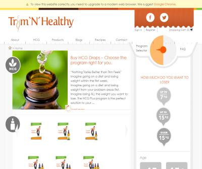 Trim N Healthy Natural Weight Loss Product