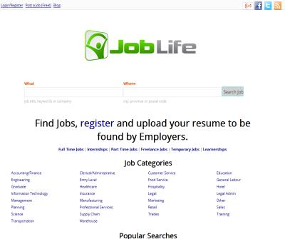 Joblife -South African Job Search Engine