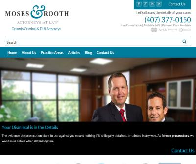 Moses and Rooth Attorneys at Law Orlando Criminal & DUI Attorneys