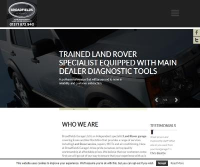 Specialist Land Rover Garage Essex and Hertfordshire