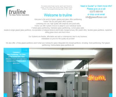 Truline | glass/glazed office partition specialists | 30 years experience