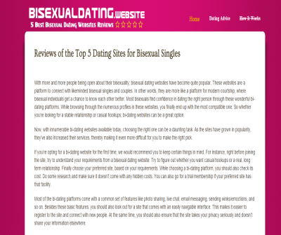 Bisexual Dating Websites Reviews