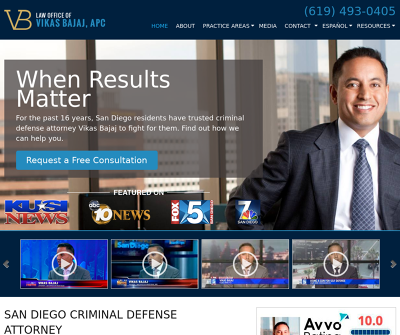Law Office of Vikas Bajaj, APC - San Diego Criminal Lawyer
