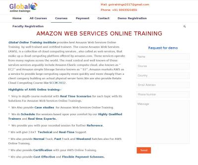 Aws Online Training And Certification Usa India