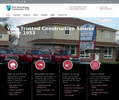 S&S Remodeling Contractors, LLC Construction, Roofing, Siding, West Chester PA