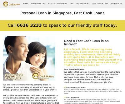 CreditMatters - Licensed Money Lender for Bad Credit Personal Loans and Fast Cash Loans