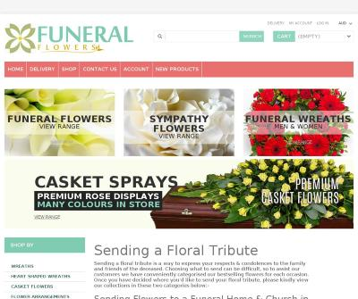 The Funeral Flower Shop Wreaths, Casket flowers, Sheafs Sympathy Arrangements Melbourne