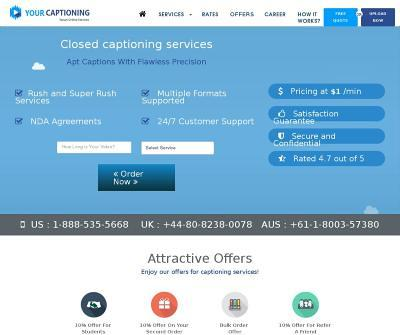 Captioning, Translation and Transcription Services Your Captioning