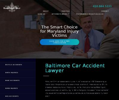 Baltimore Car Accident Attorney Law Offices of Randolph Rice Lutherville MD