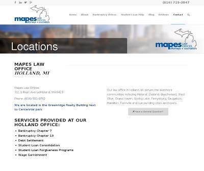 Mapes Law Offices Bankruptcy, Credit Counseling, Michigan Law Firm