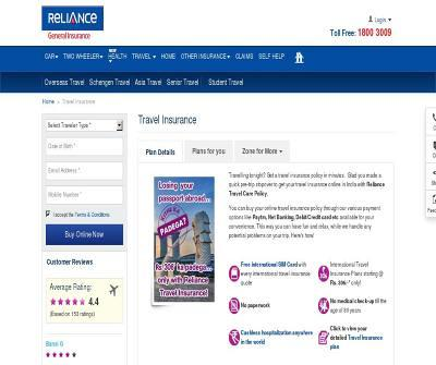 Reliance General Travel Insurance
