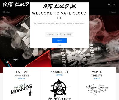 Vape Cloud UK Online Bar Juice Best Vaporizers Vapour, e-juices, e-liquids