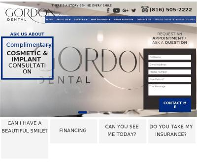 Gordon Dental Crowns, Dental Implants, Cosmetic Dentistry Kansas City