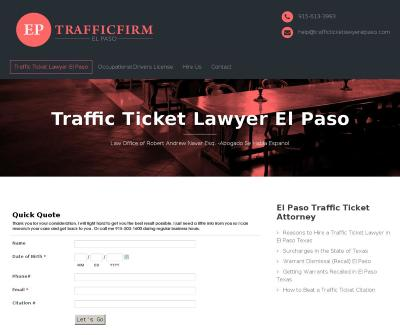 Traffic Ticket Lawyer El Paso