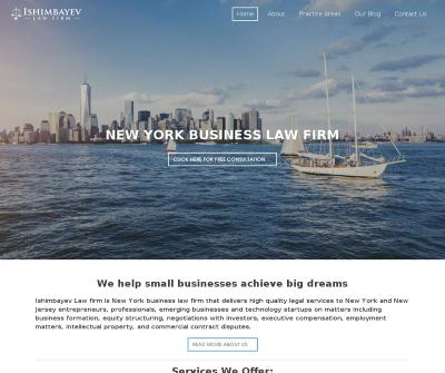 Ishimbayev Law Firm NY Small Business Lawyer Corporate, Small Business Law
