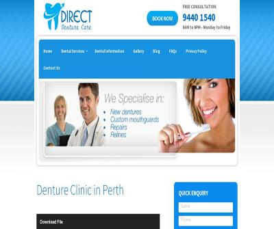Direct Denture Care Teeth Whitening,Immediate Dentures, Australia