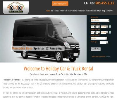 Holiday Car & Truck Rental Brampton, Mississauga and Toronto Canada