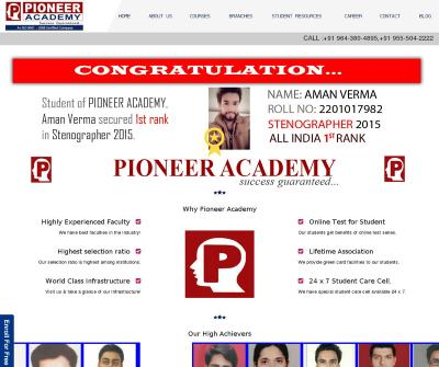 Pioneer Academy SSC / HSSB JE Exam Coaching India