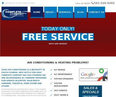 Complete Comfort Air Conditioning & Heating Palm Beach Gardens and Jupiter FL