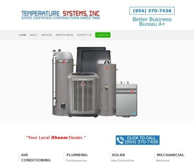 Temperature Systems Inc Air Conditioning Replacement, Plumbing Repair South Florida
