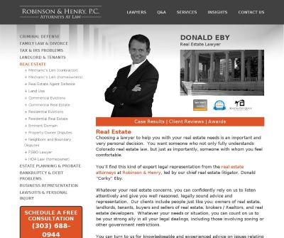 Robinson & Henry, P.C. Personal Injury, Real Estate, Tax Attorneys  Denver CO