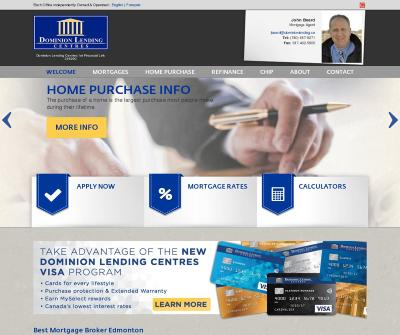 John Beard - Dominion Lending Centres Mortgage Broker Edmonton