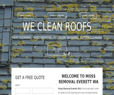 Moss Removal Everett WA  Treatment, Pressure Washing Services
